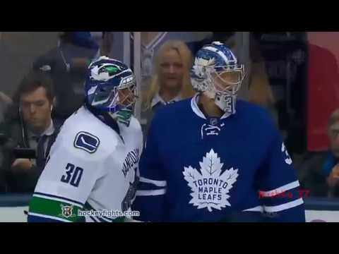 All Fights Toronto Maple Leafs   Vancouver Canucks Nov 5, 2016 line brawl