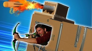 NERF Battle 📦 Box FORT VS Box Fort Challenge