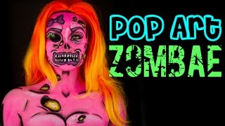 "Pop Art Zombie - "" ZOMBAE "" Makeup tutorial"
