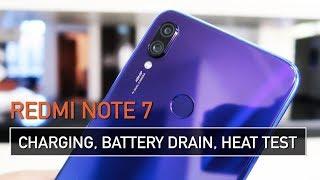 Redmi Note 7 Charging, Battery Drain, Heat & PUBG Test | Zeibiz