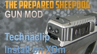 Technaclip on Springfield XDm - GREAT concealed carry option