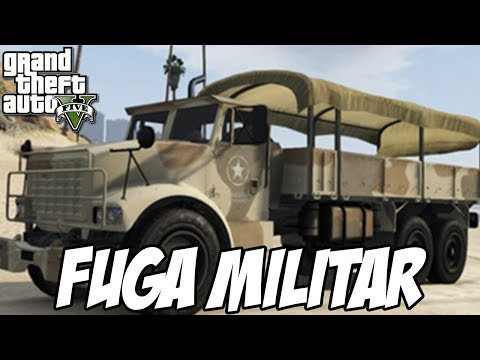 GTA V - Fuga militar CORRIDA SENSACIONAL