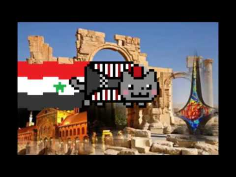Scary Pop Up Nyan Cat Around The World Tour - Syrian