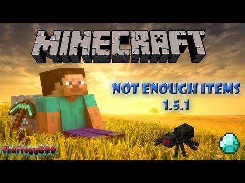 Minecraft 1.5.1 PC Mods: Not Enough Items (Descargar E Instalar)