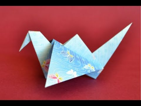 How To Make An Origami Crane Flapping Wings
