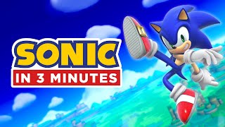 Entire Sonic Story in 3 Minutes (Sonic Animation)