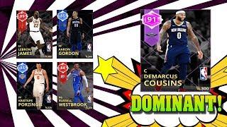Amethyst Demarcus Cousins Gameplay! Nba 2k18 Myteam Supermax vs Sapphire Kareem