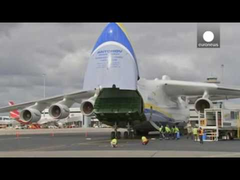 World's largest plane touches down in Australia