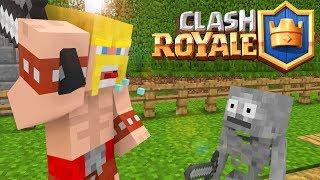 Steve VS Herobrine : Fighting Clash Royale  - Minecraft animation