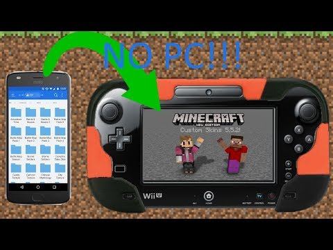 Minecraft Wii U Edition - How to install Custom Skin Packs with YOUR PHONE!!! (Android only)