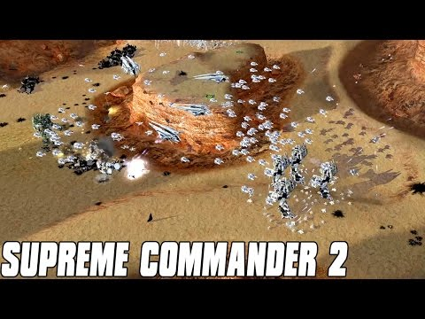 Supreme Commander 2 - Cheating AI 7v1 Multiplayer Gameplay