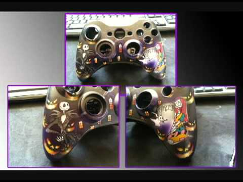 The Nightmare Before Christmas xbox 360 controllers - YouTube