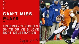 Mitch Trubisky's MASSIVE Rushes on TD Drive & Love Boat Celebration 🛥️