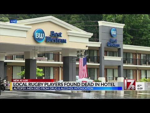 NC men died from drugs, alcohol at hotel after rugby win