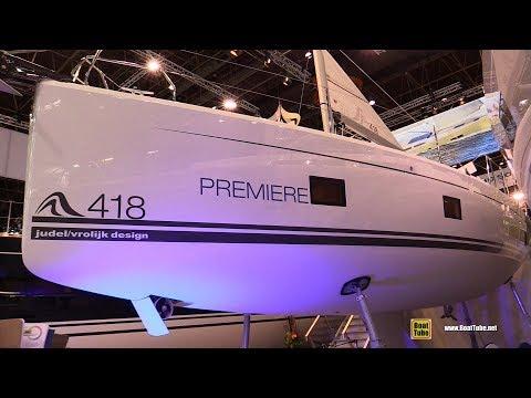 2018 Hanse 418 Sailing Yacht - Walkaround - 2018 Boot Dusseldorf Boat Show
