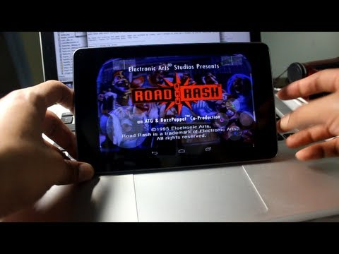Nexus 7 - Playing ROADRASH on your Android device
