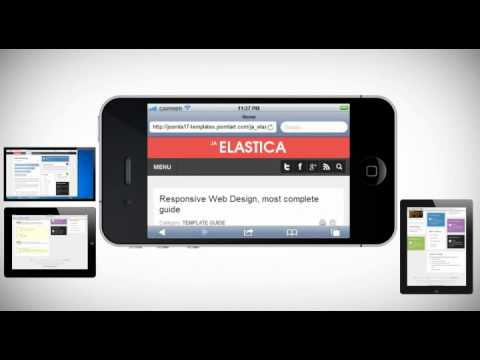 JA Elastica - Web Responsive Design Template for Joomla!