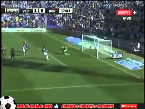FC Barcelona vs Real Valladolid 0-1 All Goals & Highlights (8/03/2014)