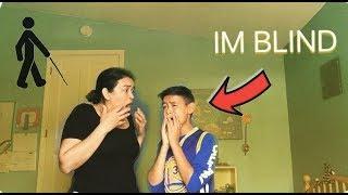 IM BLIND PRANK ON MOM!!! ( GONE WRONG )
