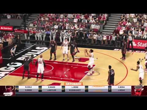 NBA 2K15 Heat vs Bulls PS4