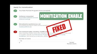 Fix! 10K views Channel review for Monetization Continue after 1 week