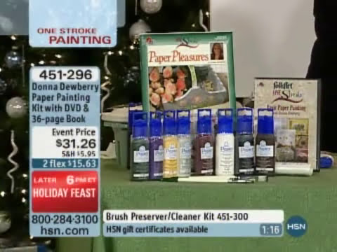 Donna Dewberry One Stroke Paper Painting Kit with DVD