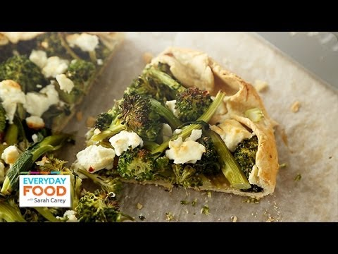 Broccolini and Feta Galette - Everyday Food with Sarah Carey - YouTube