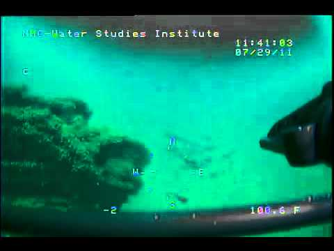 NMC Water Studies Institute barge dive video