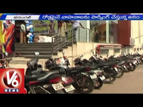 Warangal city people facing problems with Traffic congestion (25-05-2015)