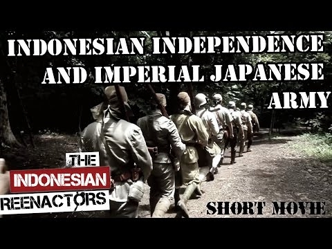 Indonesia Independence and Imperial Japanese Army Reenactment