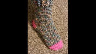 CROCHET How to #Crochet Cute & Quick Sock #TUTORIAL #180 LEARN CROCHET DYI