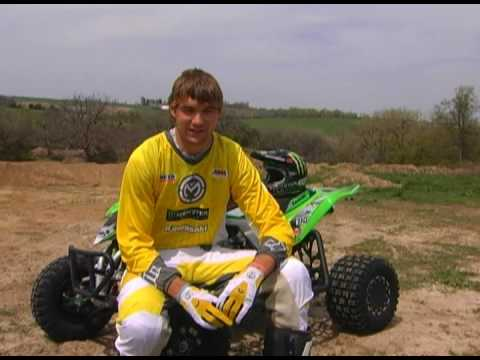 Kawasaki's Chad Wienen ATV Motocross Pro Interview & Wreck Video