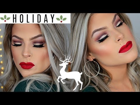 Holiday Glam Makeup Tutorial | Classic Red Lip| Valerie Pac