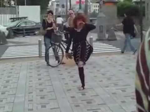 Japanese Woman Goes Nuts Near Subway video