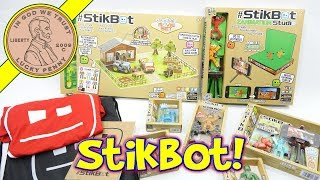 Stikbot Toy Extravaganza StikGorilla - StikCow Pets & Huge Stikbot Farm Movie Set