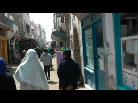 Walking through Essaouira - Morocco 1080 50p Full HD