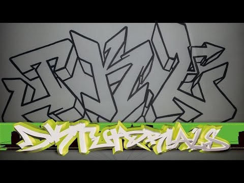 How to draw graffiti wildstyle - Graffiti Letters JKL step by step