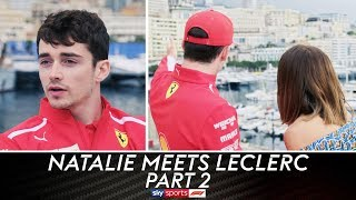 Leclerc on comparisons to Jules Bianchi | Natalie Meets Charles Leclerc | Part 2