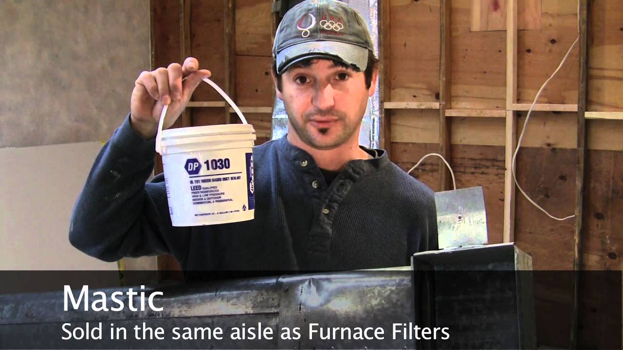 How To Seal An Hvac Duct With Mastic Duct Sealant Youtube