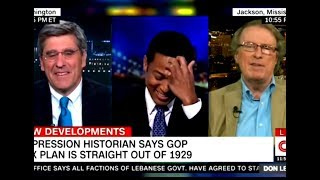 Historian Hilariously Talks Over Trickle-Down Shill