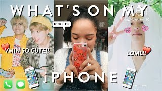 WHAT'S ON MY iPHONE (never too many tae/bts pics lol)!! ♡☎♡