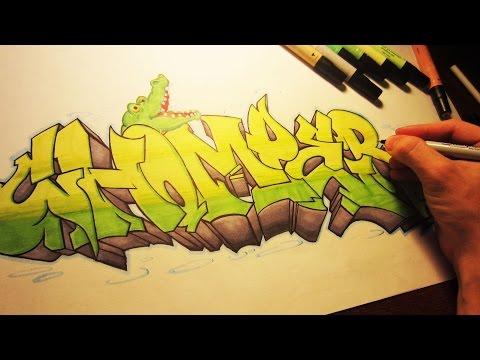 Chomper Graffiti Speed Art