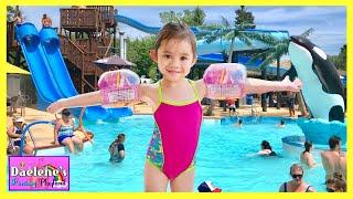 Splashing Fun Swimming Pool with Water Slide Kids Playtime with Ryan Toysreview inspired @DaeleneFP