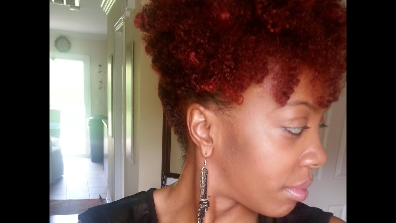 Rich auburn hair color on black women