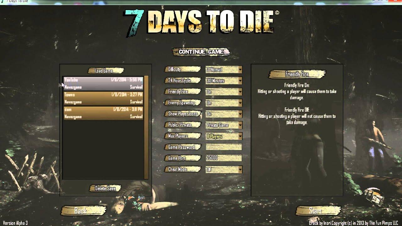 days die 7 графики 14 настройка to