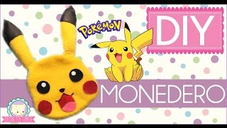 DIY: MONEDERO DE PIKACHU / POKEMON  ♥