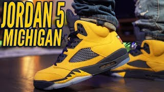 "COP OR NOT ? AIR JORDAN 5 ""MICHIGAN"" ""INSPIRE"" REVIEW AND ON FOOT 4K"