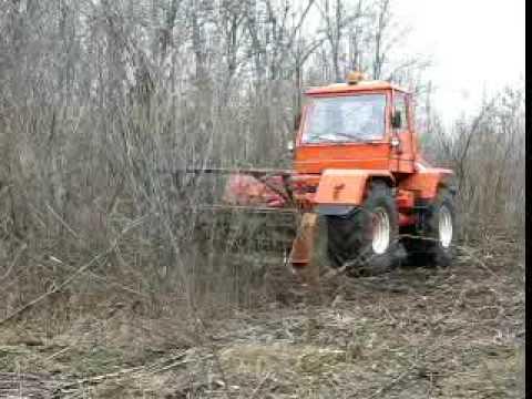 Кусторез Berti на базе трактора ХТА-200-02 Слобожанец