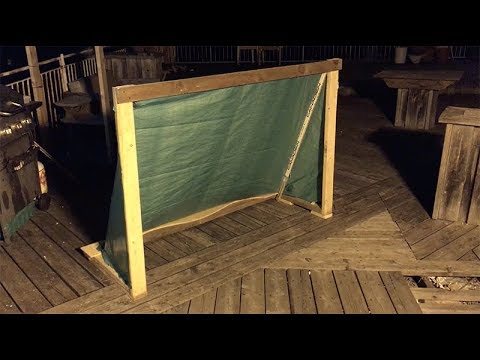How To: Make a Hockey Net out of Scrap Wood & Tarp
