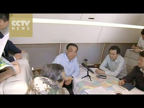 Premier Li Keqiang arrives at Yangtze River ferry disaster
